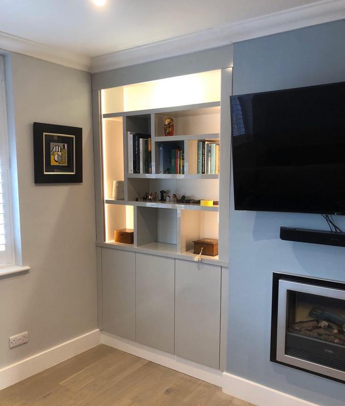Image 9 - Alcove cupboard/shelving unit