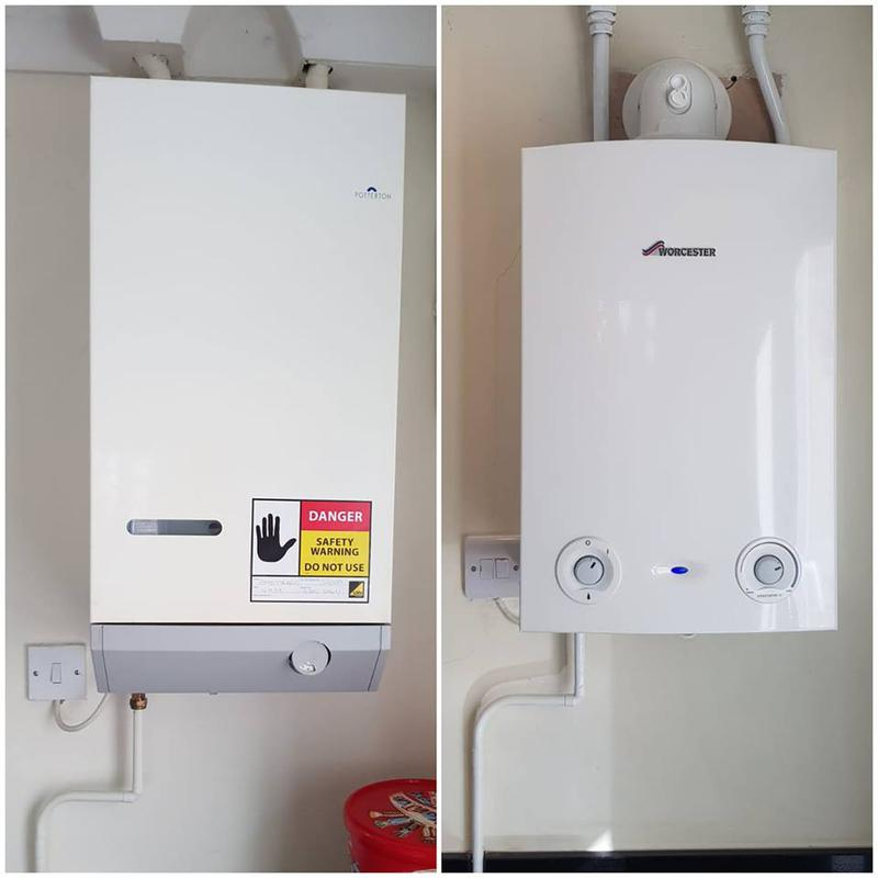 Image 13 - Before & After : Unsafe boiler made safe then replaced with a Worcester Bosch Conventional Ri.