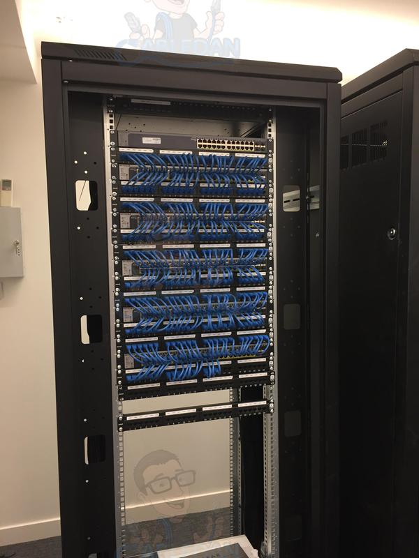 Image 43 - 480 Excel Cat 6 Data points installed in 42u Data Cabinets in Accountants Office in London