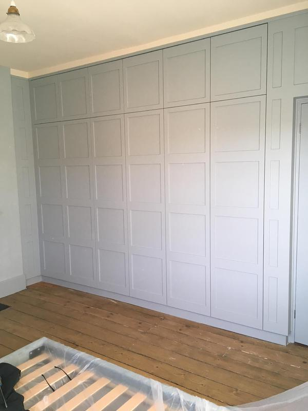 Image 43 - Bespoke Wardrobes's with push to open mechanisms , to give the appearance of a panelled wall.