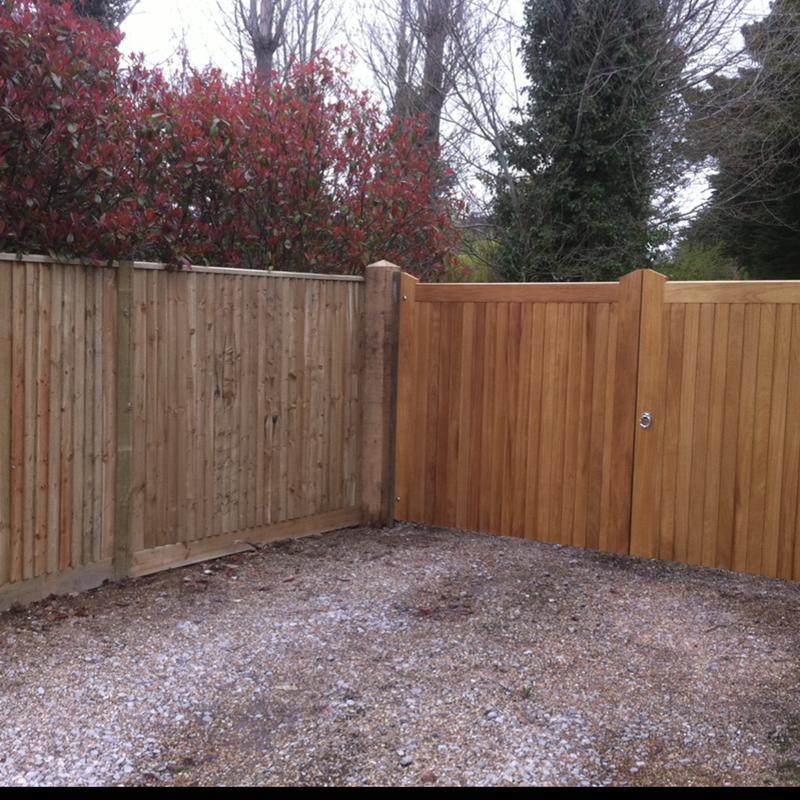 Image 28 - Iroko gates and close board fencing
