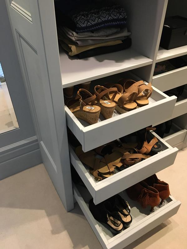 Image 6 - Bespoke pullout shoe storage with soft close runners.