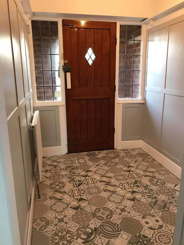 Image 7 - Victorian tiles to compliment the soft grey walls.Easy clean and low maintenance as always. Perfect for any hallway.