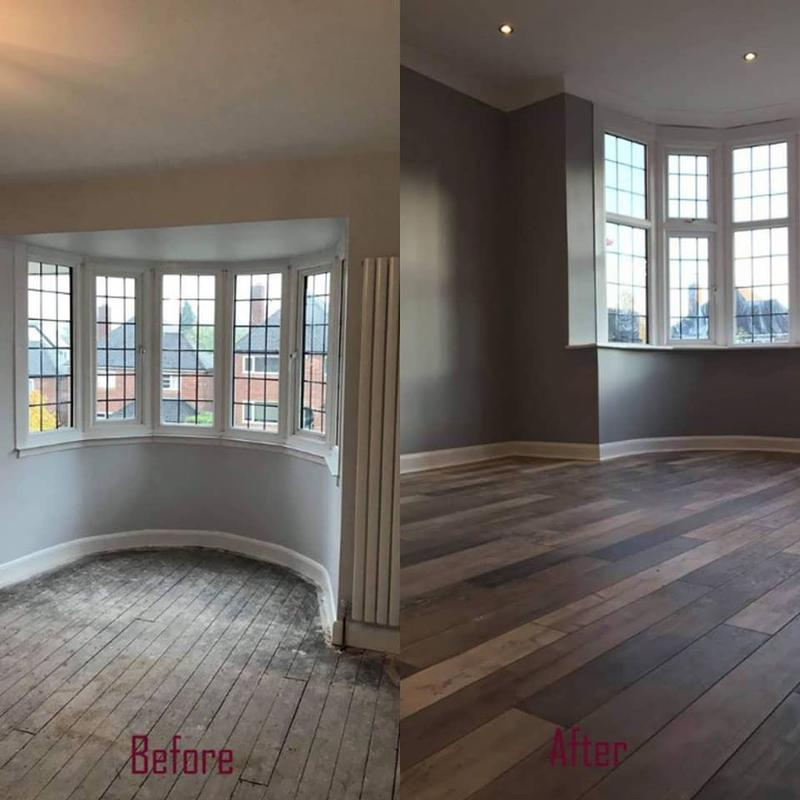 Image 4 - Fabulous floor fitting on our recent living room refurbishment along with painting the walls and woodwork to compliment the floor tones.