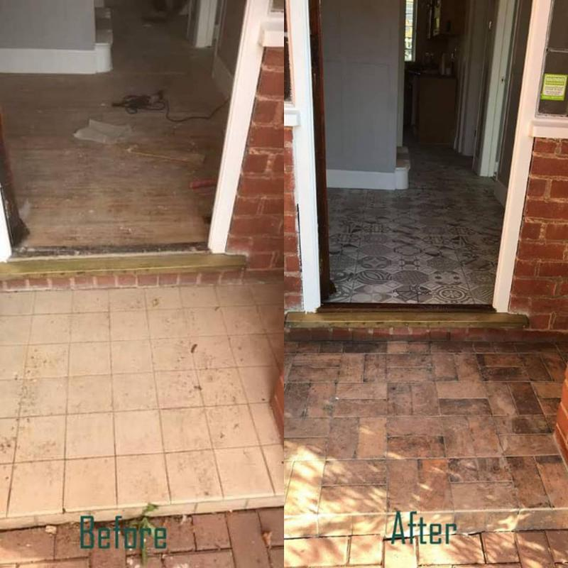 Image 6 - Porch brick style tiling used to update the entrance to this property and blend in with with the existing brickwork.