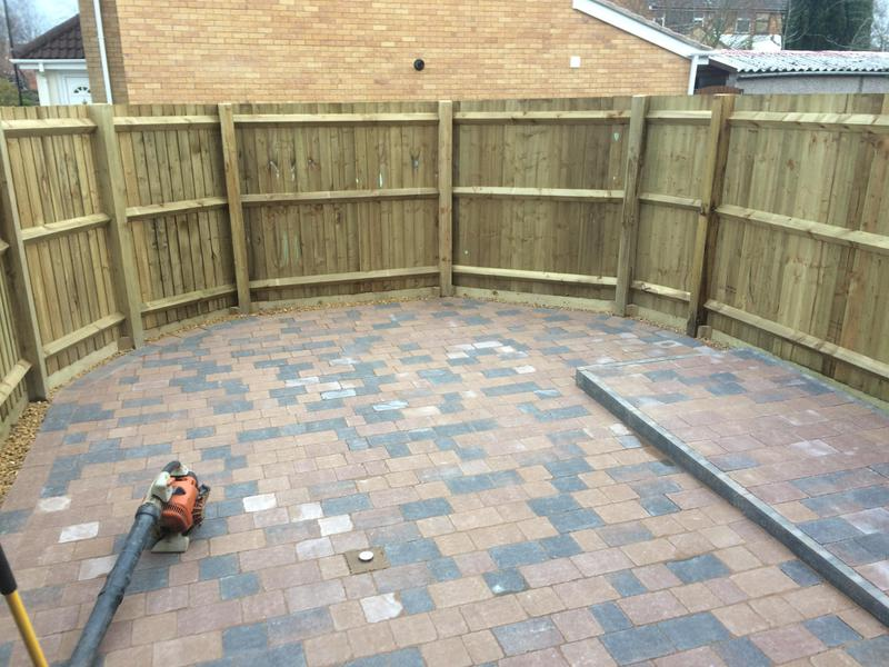 Image 13 - Coventry full rear landscape including fenceing and blockpaving multisize blocks