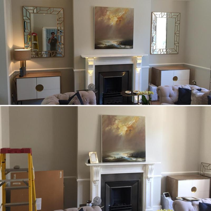 Image 4 - Hanging artwork and mirrors in Clapham by our trusted Handyman. Handy Gentlemen