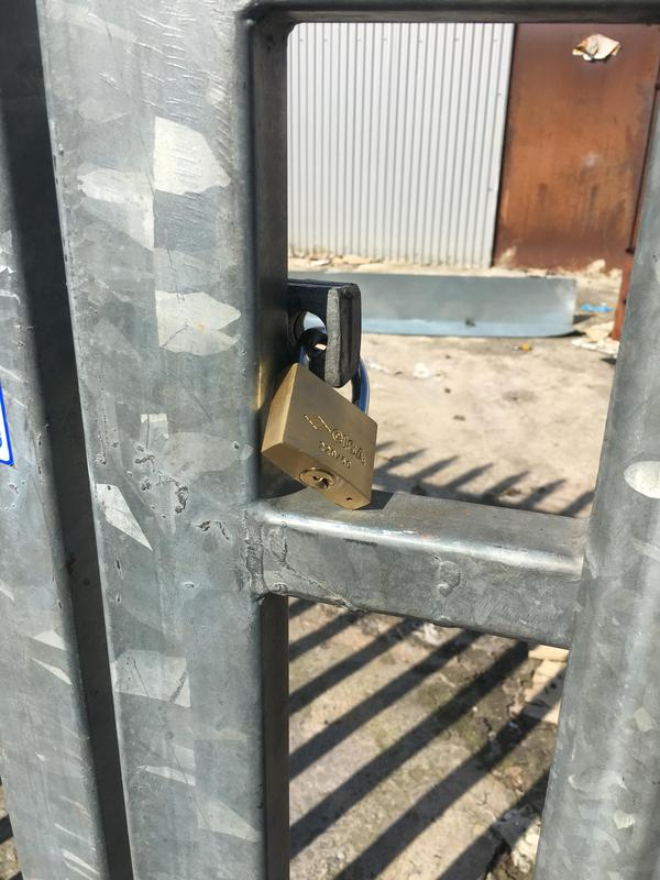 Image 43 - Padlock opened as part of a repossession of an industrial unit