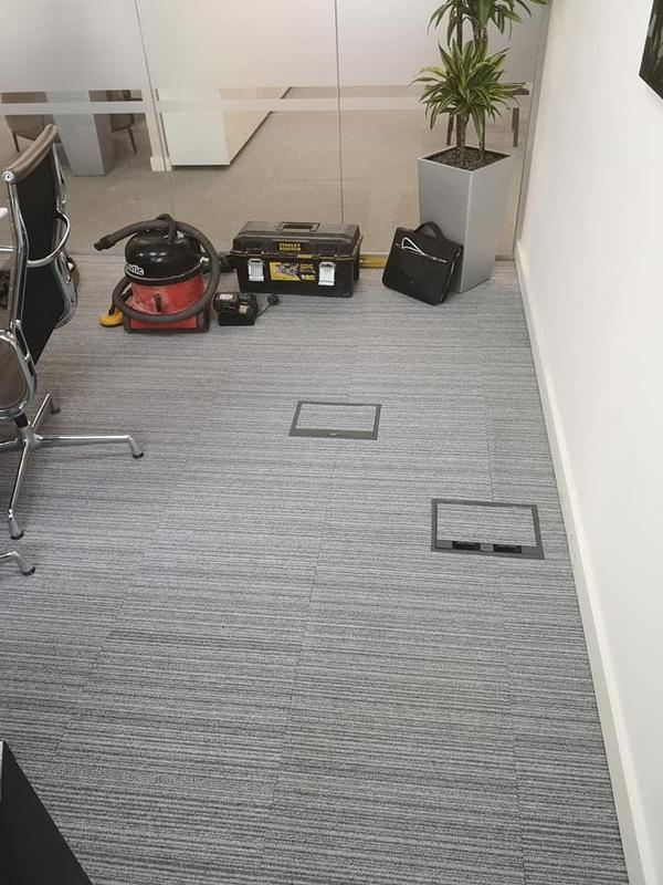 Image 29 - New floor boxes and carpet recut for a precise finish