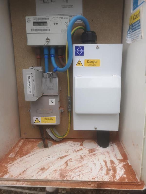 Image 27 - New mains supply