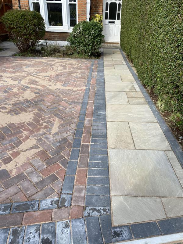 Image 9 - New block paving driveway and Indian sandstone pathway