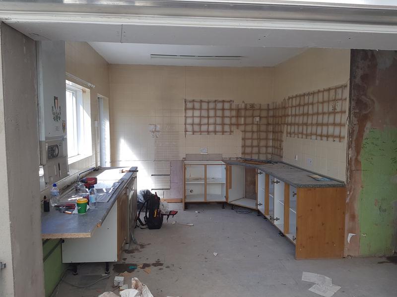 Image 34 - Kitchen prior to rewire.