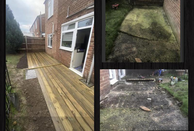 Image 33 - 13- Transforming a concrete low level pad into a levelled decking area