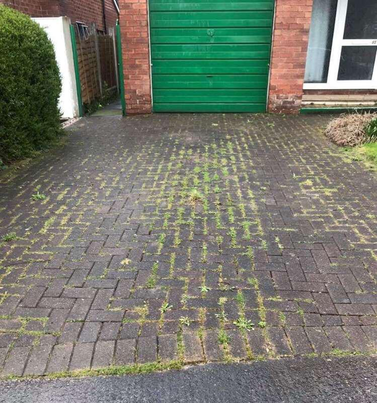 Image 65 - Driveway before pressure cleaned