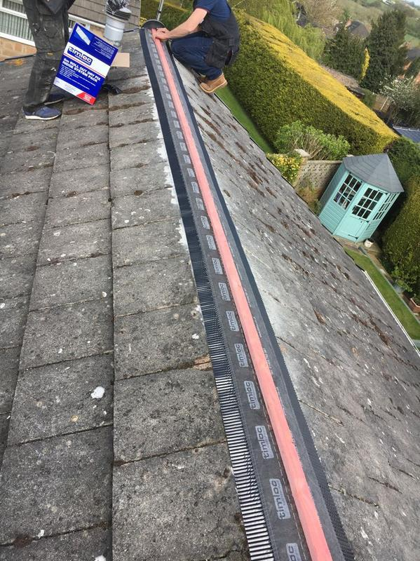 Image 34 - breathable membranes going down on the tiles.