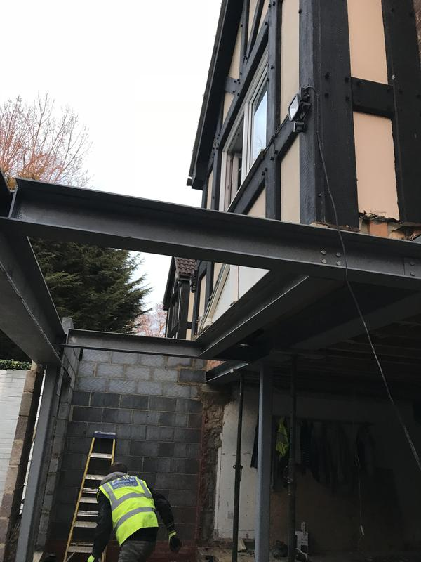 Image 11 - Lots of steel beams new extension