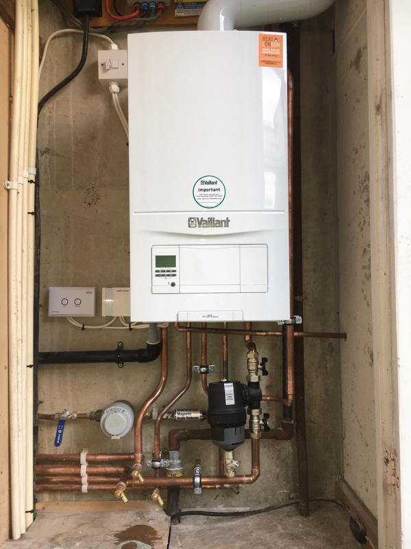 Image 8 - Brand new Vaillant combination boiler installation with wireless programmable thermostat.