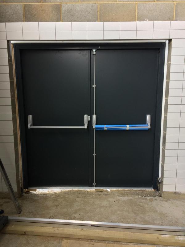 Image 21 - Double Steel door set