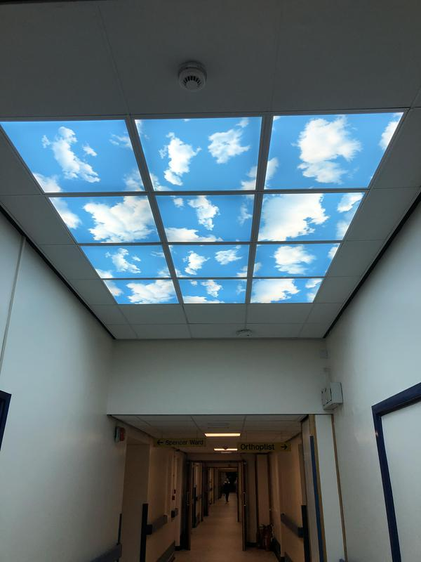 Image 32 - LED feature lighting at Kettering General Hospital