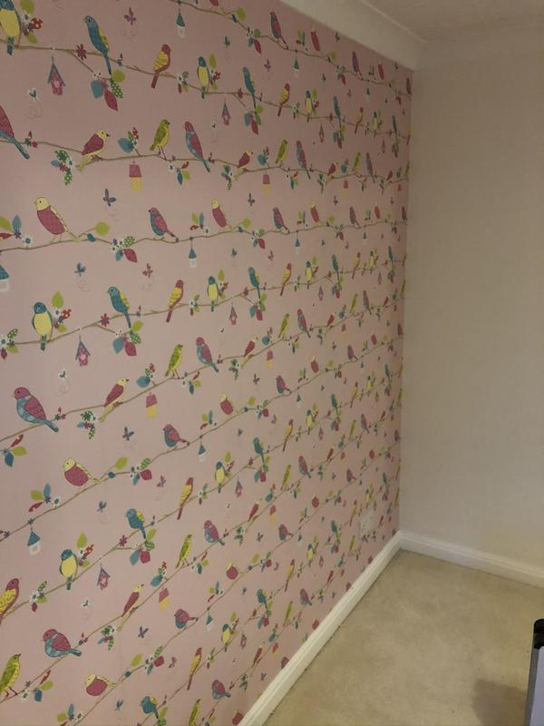 Image 4 - A feature wall paper hung.
