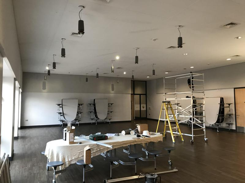 Image 54 - Installing new LED lighting to a school  with Automatic dimming system