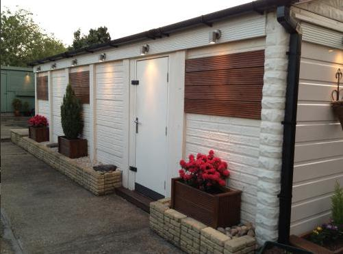 Image 4 - outside spot lights installed to a decking batton all installed painted and finished by Daren From DCM