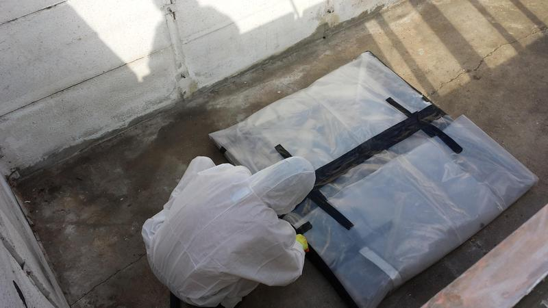 Image 41 - Asbestos Garage Roof Removal - DURING
