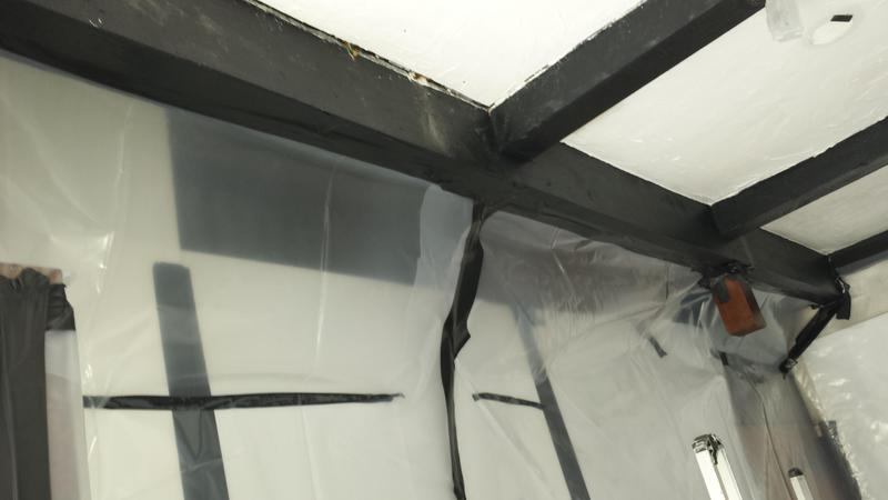 Image 22 - Asbestos Textured Coating (Artex) Removal - DURING