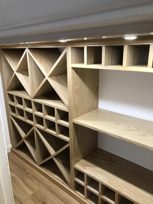 Image 7 - Bespoke under stairs wine storage