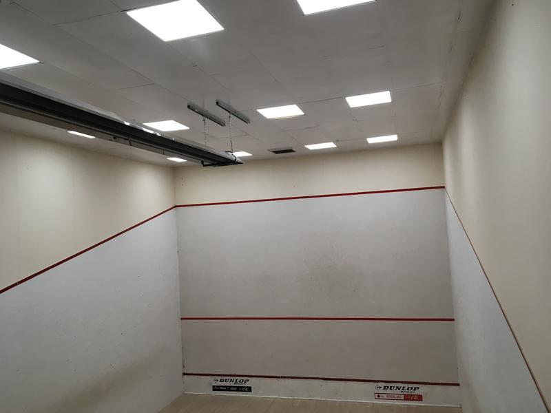 Image 5 - Installation of LED lighting to Squash Court provided 50% reduction in energy costs, reduced maintenance and increased lighting levels