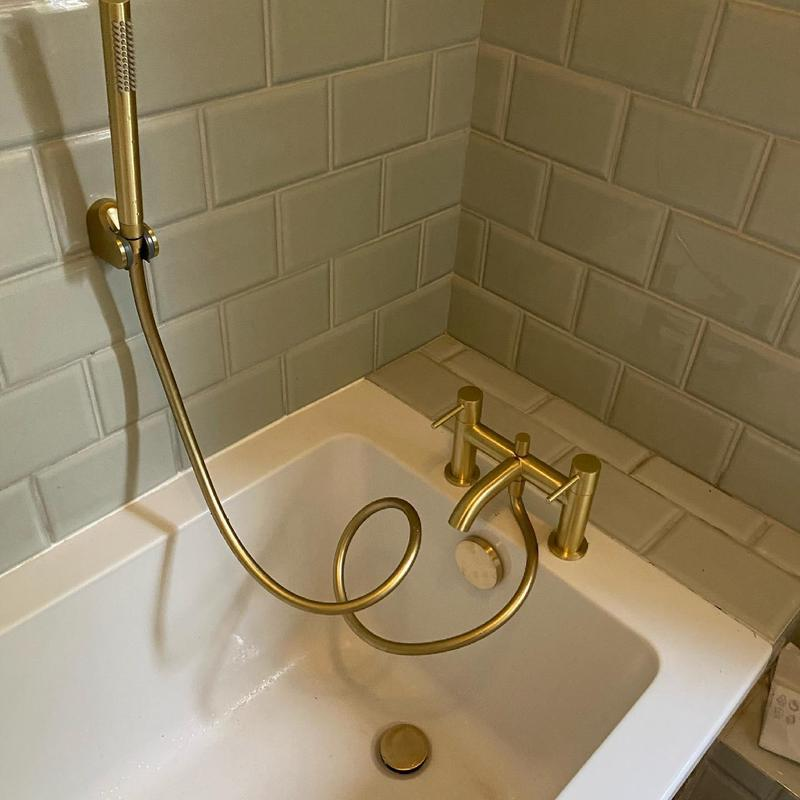 Image 1 - Plumbing Brixton - installing. New bath tap and waste. We offer a 12 month guarantee on all our work. Handy Gentlemen