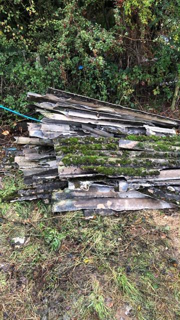 Image 7 - We collect loose sheets of asbestos as well as fly tipped asbestos