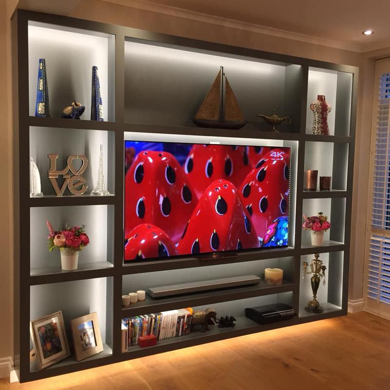 Image 6 - Dark wall mounted TV cabinet