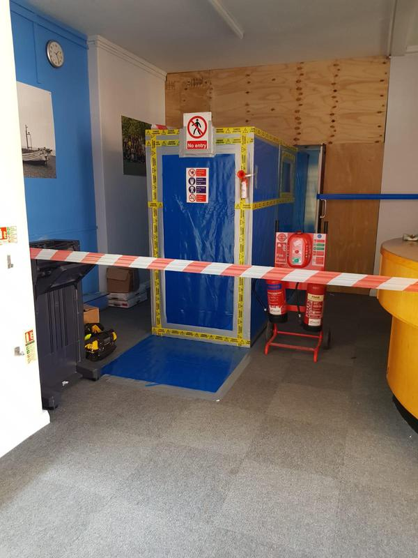 Image 4 - Health and safety to restrict entry throughout duration of removal works
