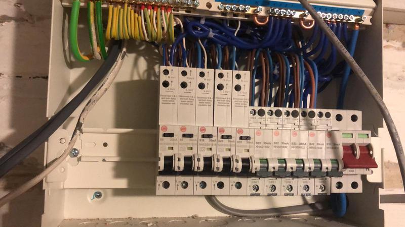 Image 18 - Full RCBO consumer unit installation in progress