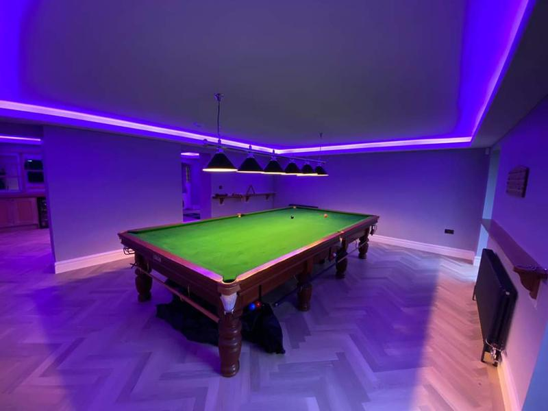 Image 42 - Games room of million pound home we plastered