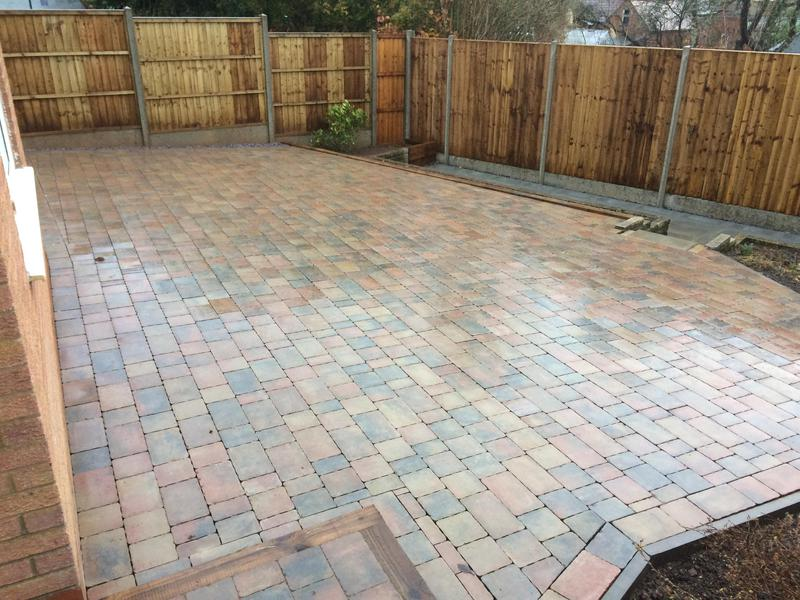 Image 4 - After large rear garden patio. Laid phase 2 completion Coventry