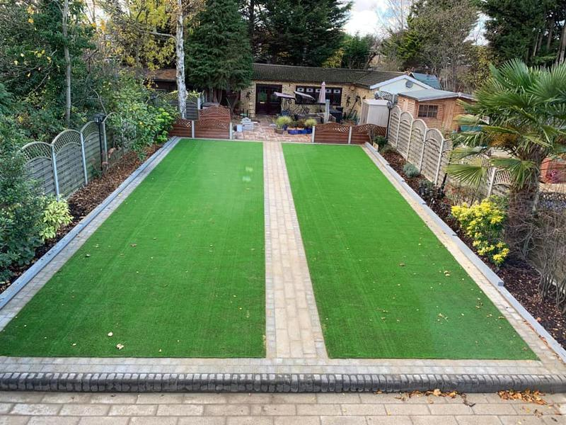Image 26 - Artificial Grass with block edging and pathway.