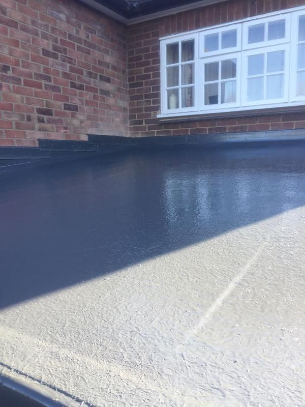 Image 101 - Old existing leaking felt roof taken off, and replaced with a new fiberglass maintenance free roof covered with a (25) year guarantee for peace of mind.
