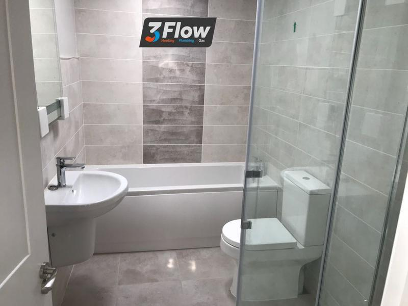 Image 3 - new bath sink towel rail toilet and walk in shower