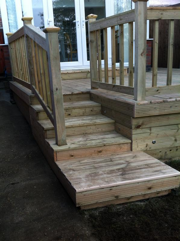 Image 22 - Decking with Steps