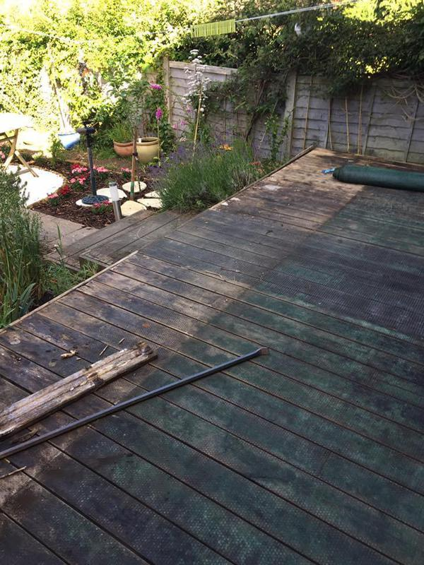 Image 19 - Old rotten decking, photo below to see the