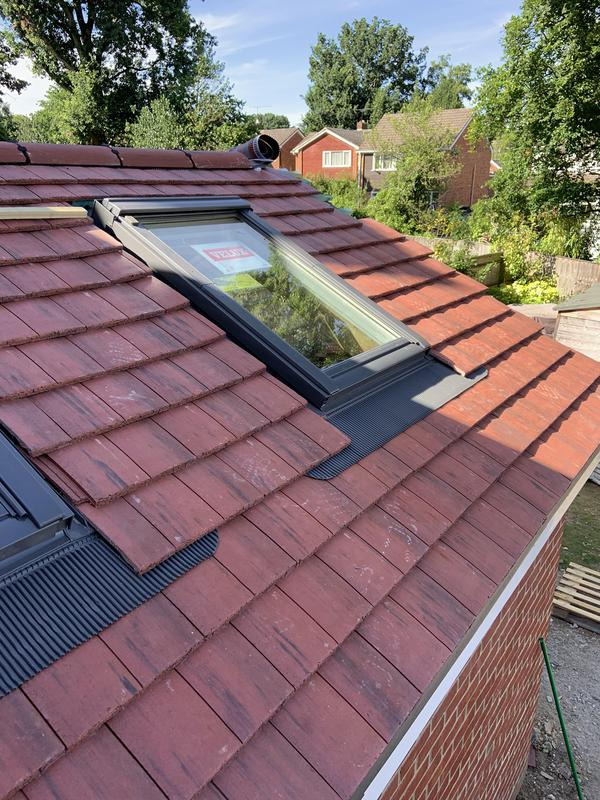Image 43 - Extension roof with Velux roof windows installed in ascot