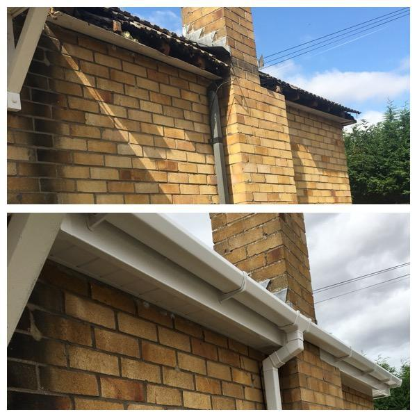 Image 107 - New white upvc fascia -soffit & guttering installation.