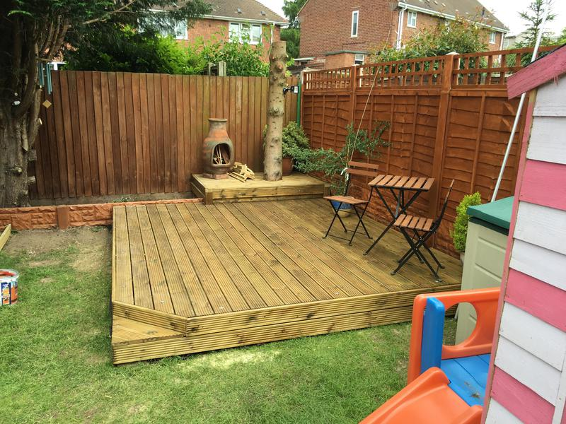 Image 22 - New decking area