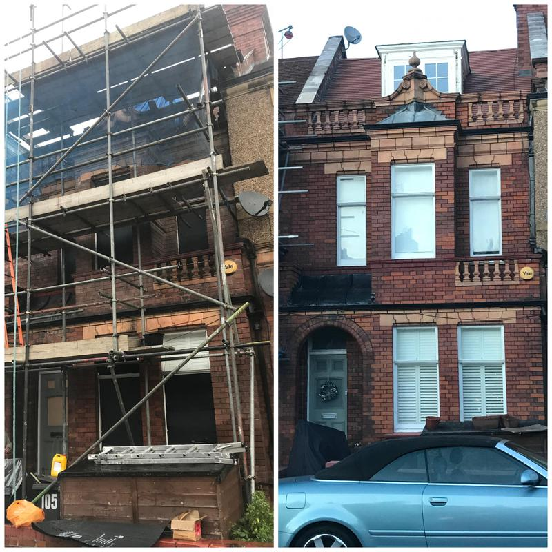 Image 5 - Brick and terracotta clean, full repoint using a black mortar tint. Conservation area in Streatham