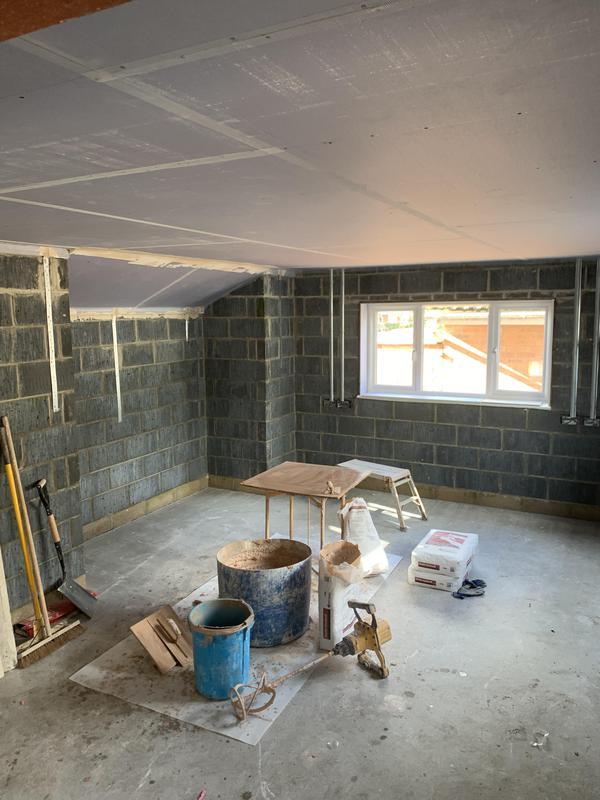 Image 12 - Workshop plastering project.Ceiling plaster boarded in 15 mm soundblock.