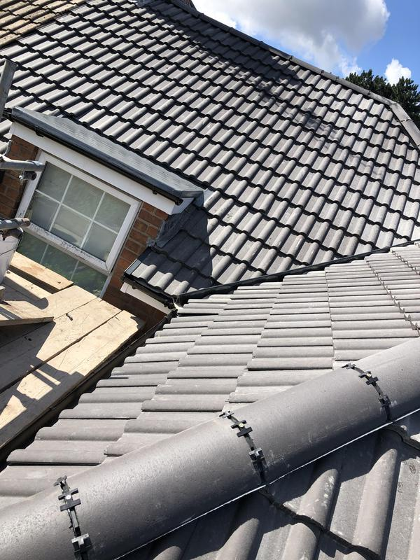 Image 3 - New roof installed with Dry-Ridge, Dry-Valleys and new GRP fibreglass roofs on bay windows.