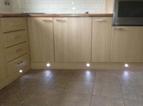 Image 2 - plinth lighting installed to a finished kitchen, all plinths replaced and re-sealed, with no damage at all