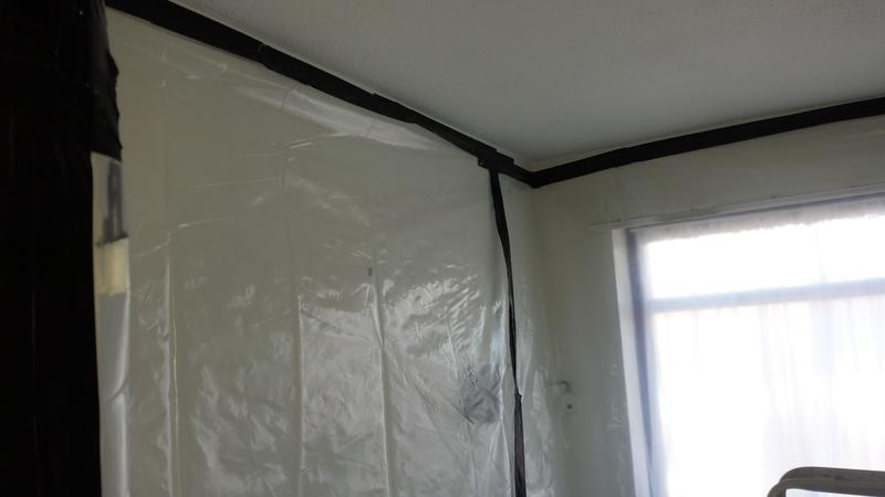 Image 21 - Asbestos Textured Coating (Artex) Removal - DURING